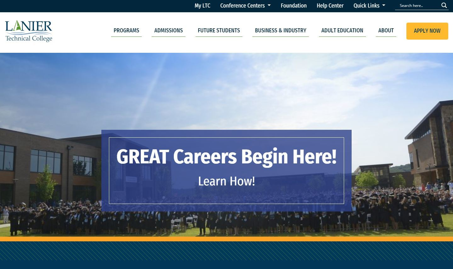New Website Home Page Lanier Technical College